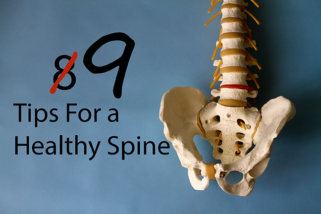 8 (+1) Tips For a Healthy Spine