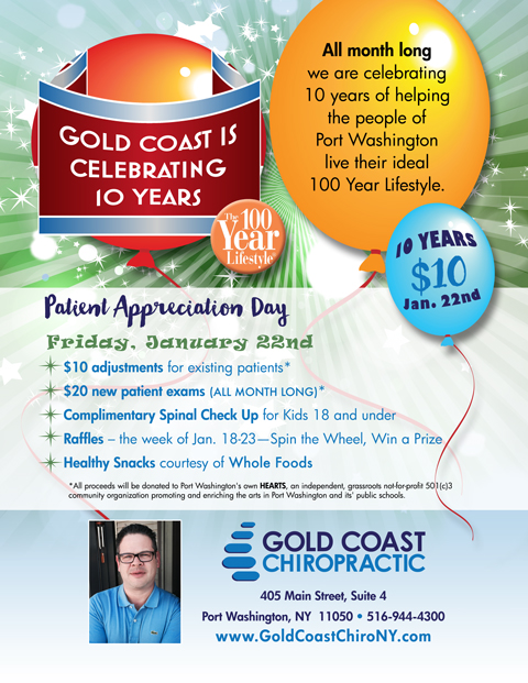 Port Washington Chiropractic Practice Celebrates  10-Year Anniversary