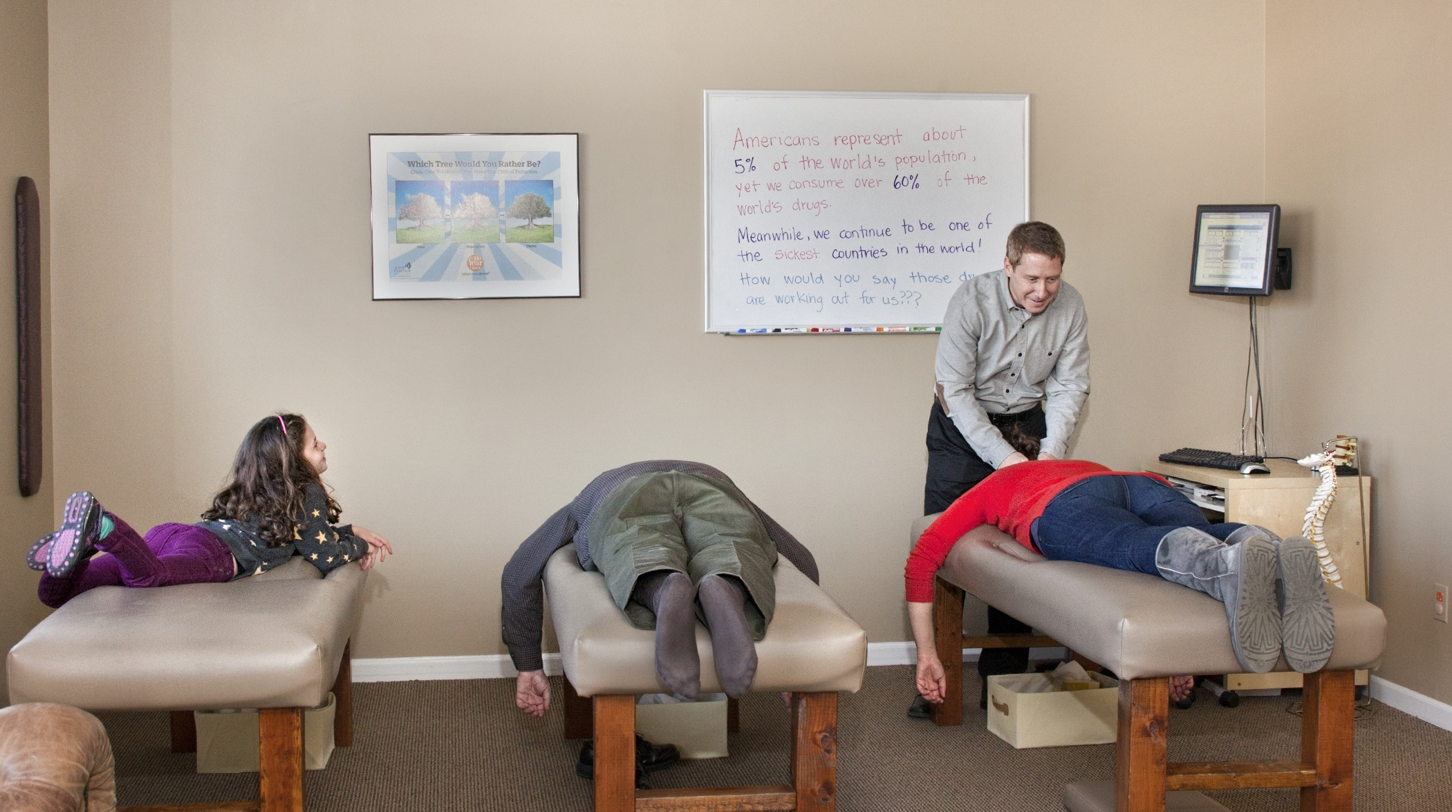 CHIROPRACTIC WITHOUT THE CRACK- A variety of gentle adjustments offer relief to the stressed out