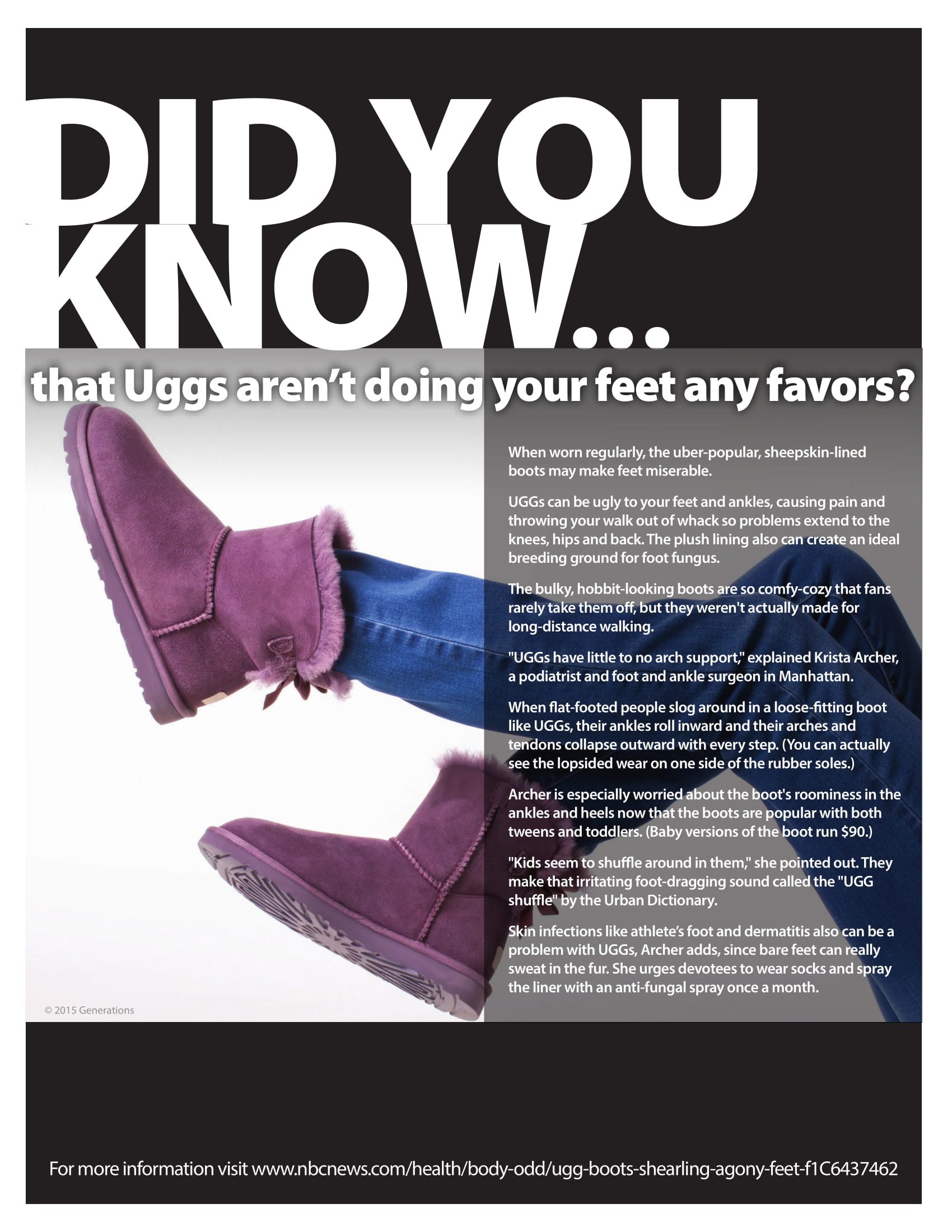 DID YOU KNOW? Ugg's arent doing your feet any favours?
