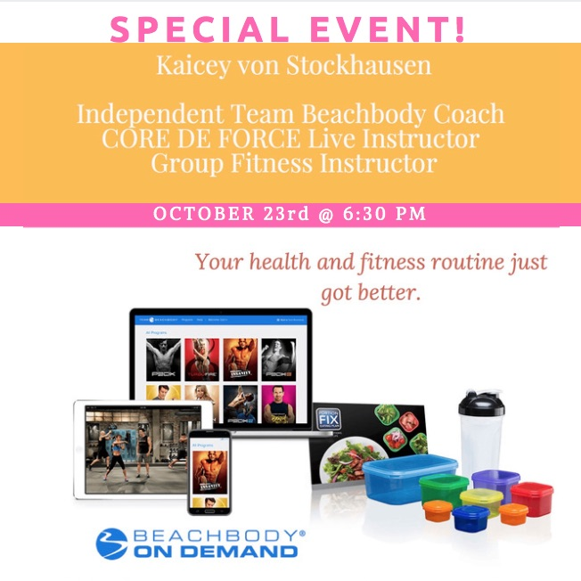 Special Guest: Kaicey von Stockhausen on home fitness!