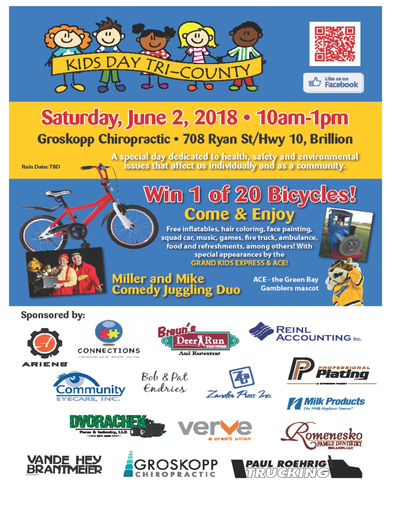 Saturday June 2nd...5th Annual Kids day Tri County