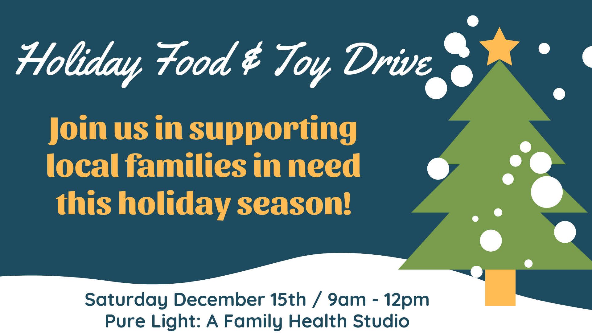 Holiday Food & Toy Drive