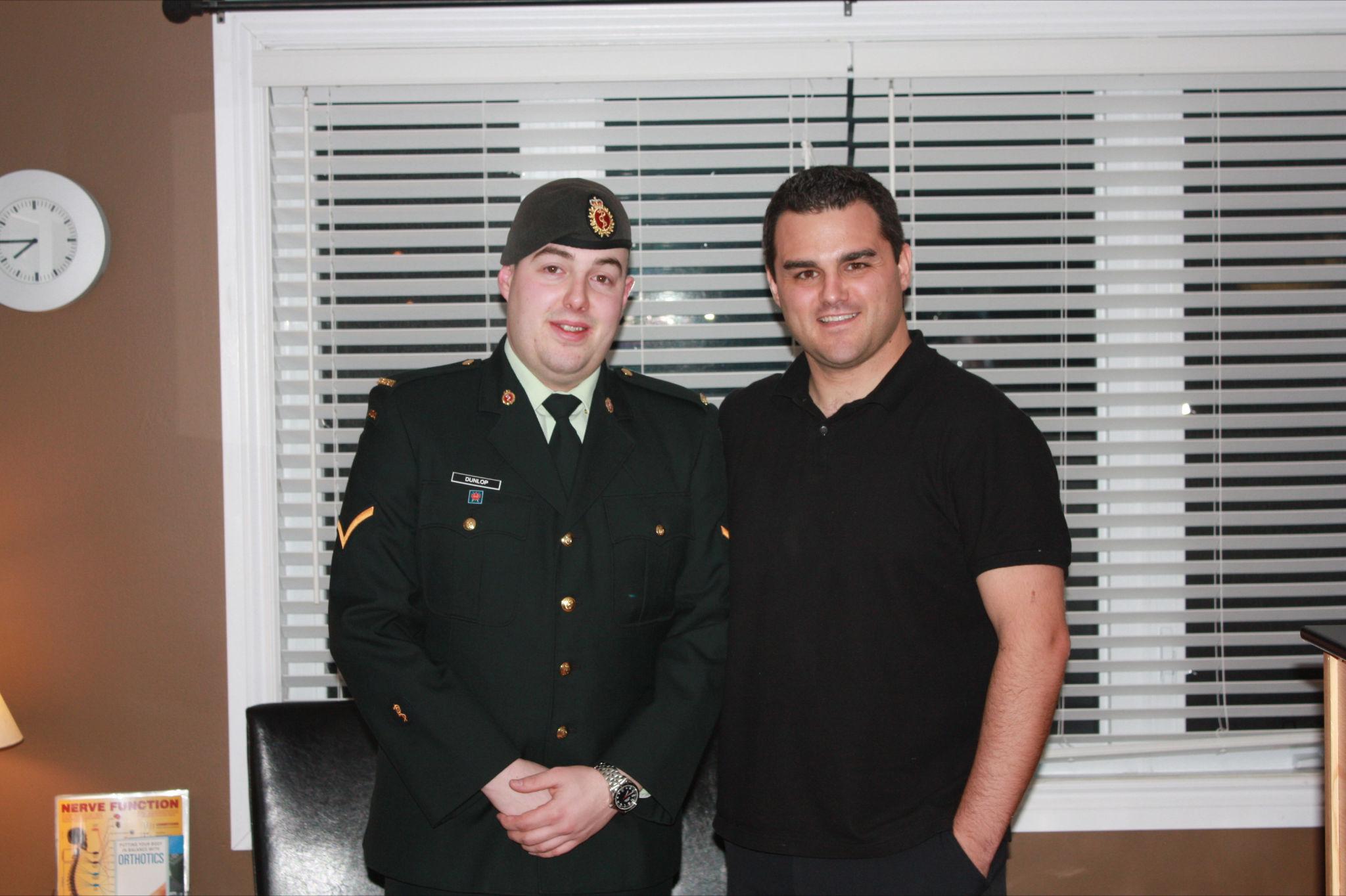 Private Ryan Dunlop & Dr. Mark Kohut