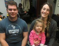 Mark, Kayla and Brinley